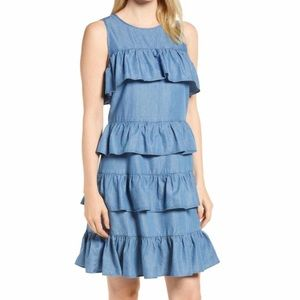 Micheal Kors Ruffled Chambray Dress